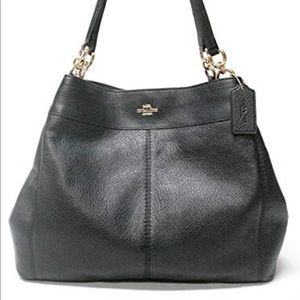 Coach pebble leather Lexus shoulder bag